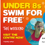 Free swimming for under 8s
