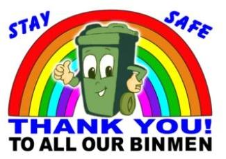 Bin men thank you poster
